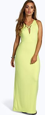 Womens lime maxi dress from boohoo.com - £18 at ClothingByColour.com