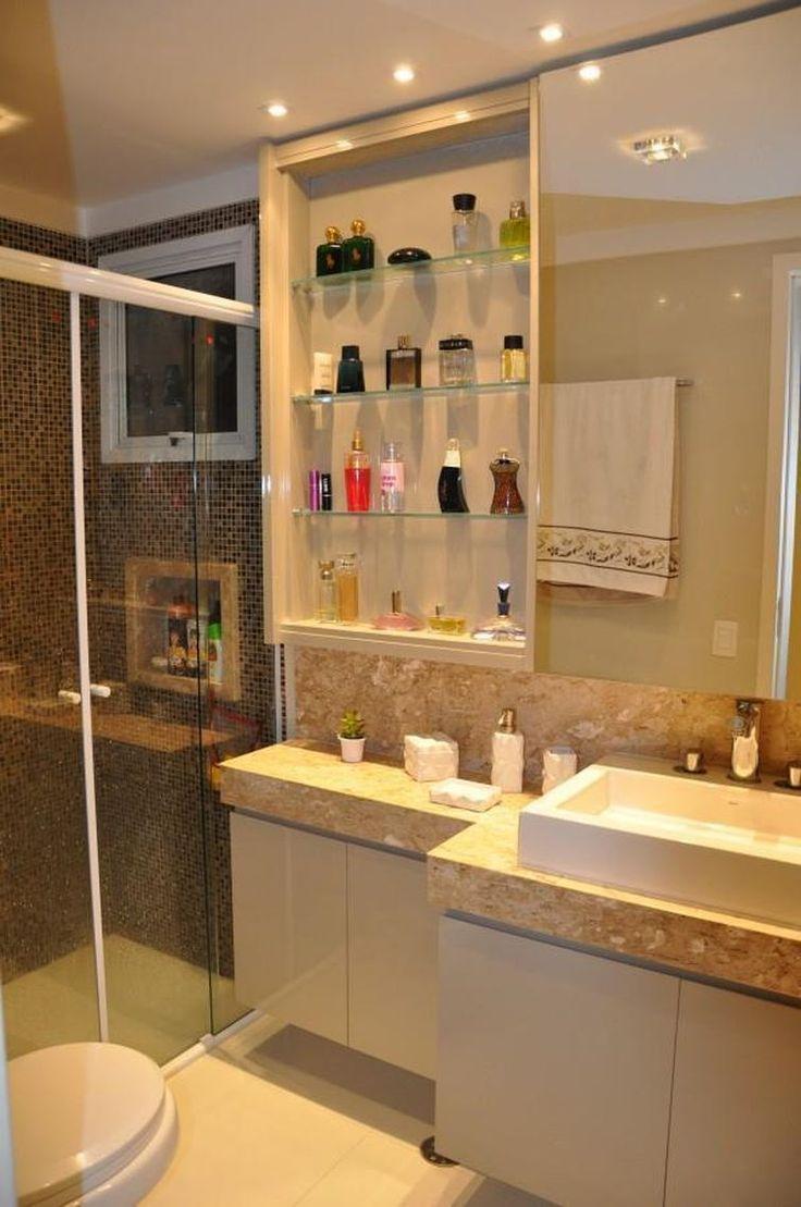 Armario De Parede Banheiro Com Espelho : Ideias sobre armario para banheiro pequeno no