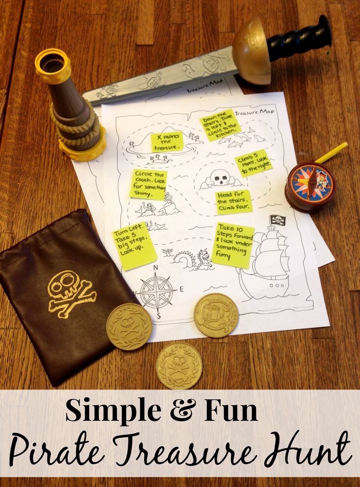 "Easy Pirate Treasure Hunt Activity For Kids by Confessions of a Semi-Domesticated Mama Brought to you by BlogHer and Disney's ""The Pirate Fairy,"" an All-New Tinker Bell Movie on Blu-ray and Digital HD Now ~Erin"