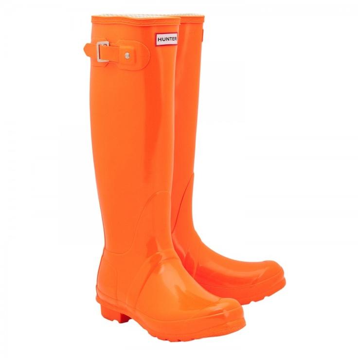 hunter neon orange boots
