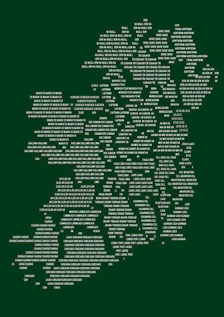 Irish countys 'as gaeilge'.
