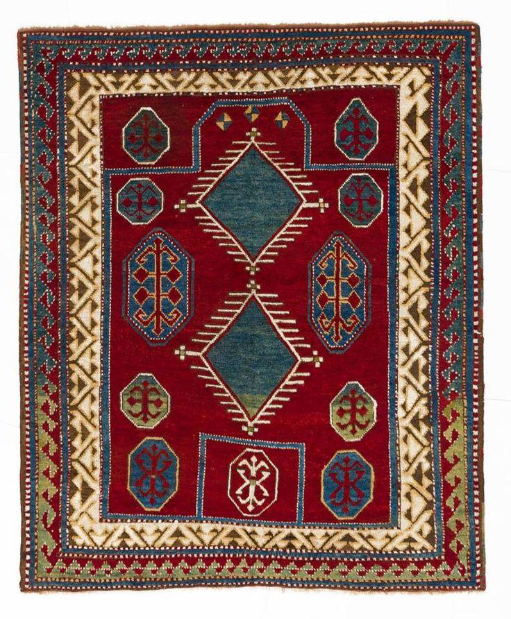 Borchalo Kazak Prayer Rug, 4` x 4`9`` (120x145), no 4287, late 19th Century.