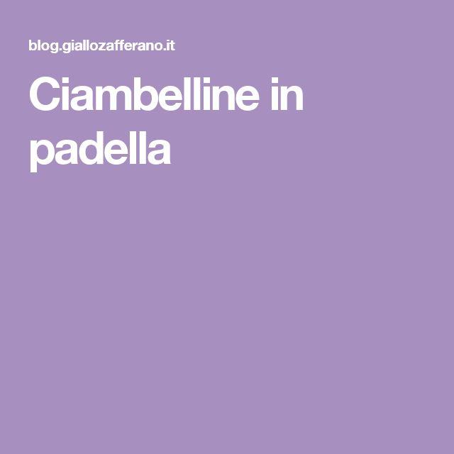 Ciambelline in padella