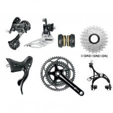 Campagnolo Athena Groupset 3x11 - Deep Black