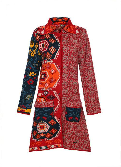 Abrigo tnico estilo patchwork gittana hindugittana - Estilo patchwork ...