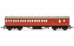 Hornby R4801 BR Ex-LMS Suburban Non-Corridor Third Class Brake Coach, Crimson - OO Scale: Rolling Stock Passenger, British Rail BR Coaches.  Your Price: £40.80 MRP: £47.99 Save £7.19 (15%)