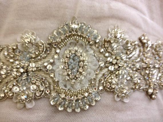 belt for blush wedding dress