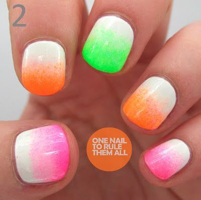 dip dye…white to neon  summer obsessions  pinterest