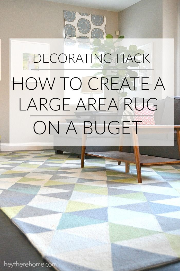 AWESOME DECORATING TIP! how to create a large rug out of smaller rugs
