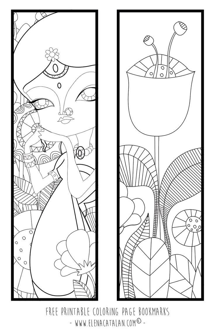 Free coloring page bookmarks - El Jard N De Kipuruki Free Printable Coloring Page Bookmarks