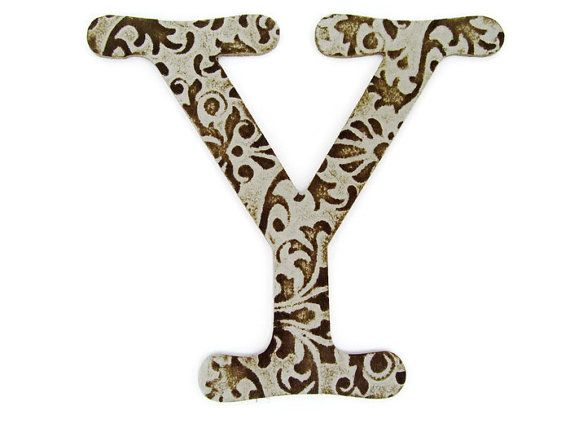 Chipboard letter Y, 4 inch embossed letter, baby shower decor, wall decor, table decor, wedding decoration, custom sayings, names