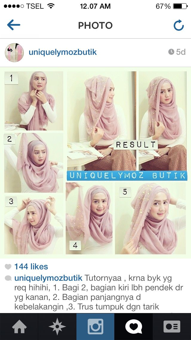 Hijab Tutorial. I really like it, I'm just not sure if I'd be able to follow the directions easily.
