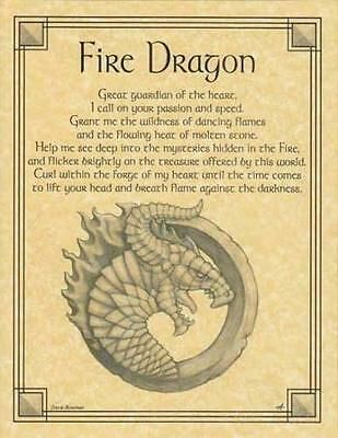 Details about Fire Dragon Parchment Page for Book of Shadows, Altars – Wicca Magick