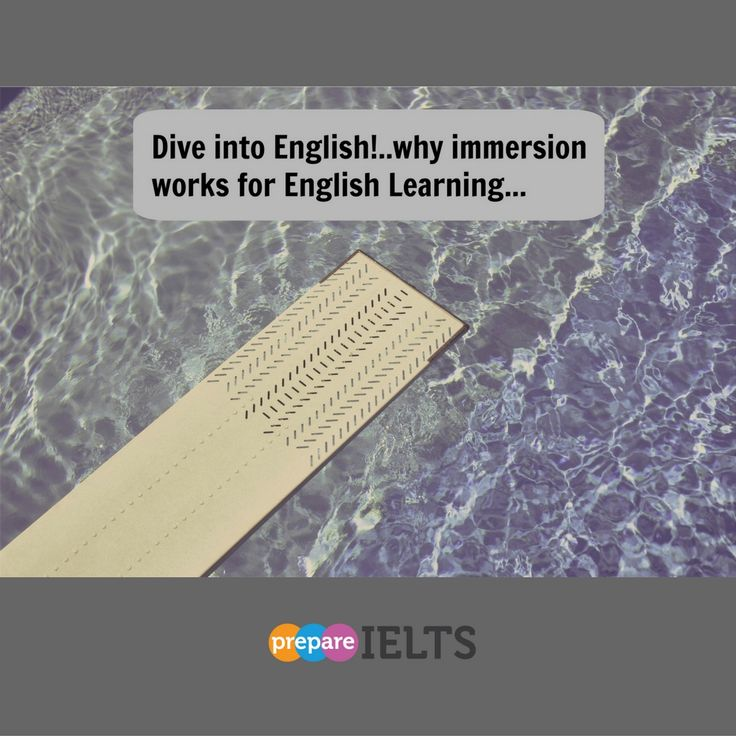 """Need to improve your English fast? Then just """"dive"""" in...read about how…"""
