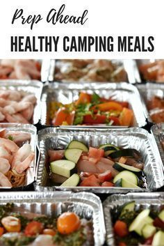 How you can meal prep forward of time for tenting! Simple campfire meals. #tenting
