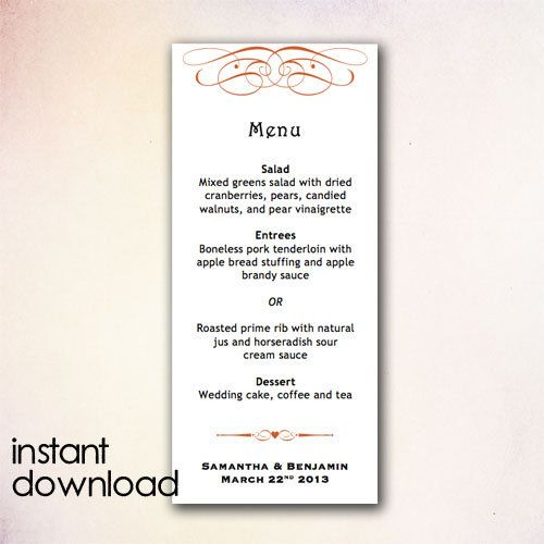 ... 15 Best DIY Wedding Menu Templates   Instant Download Images On   Dessert  Menu Template ...  Dessert Menu Template