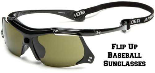 Flip Up Baseball Sunglasses.  Don't Lose The Ball In The Sun!