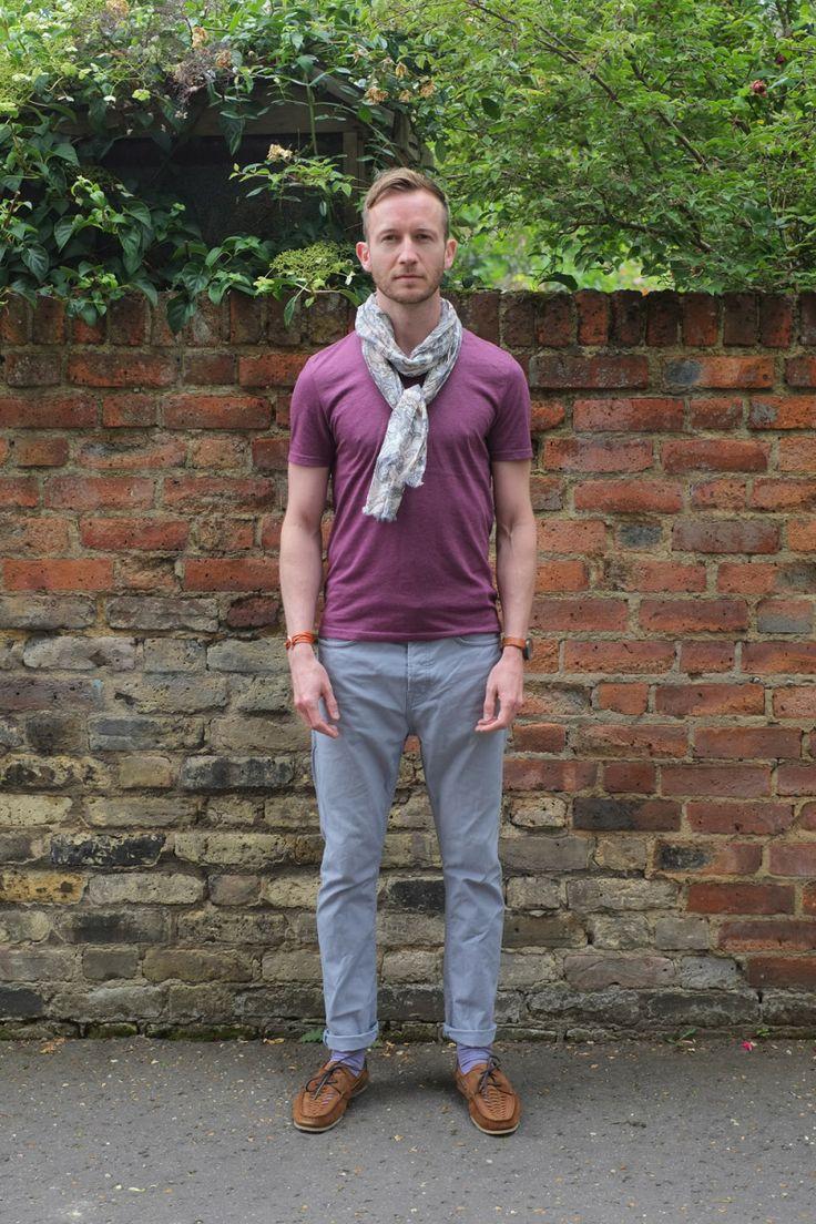 Reiss paisley scarf, All Saints jeans, Miansai bracelet, Zara woven shoes, Uniform Wares watch