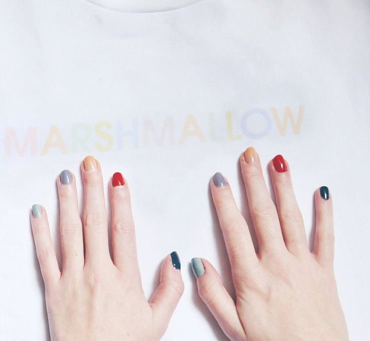 Muted cinfetti colour nails #PinterestInspired Malin Rouge (@SparkAndBark)   Twitter  #confetti #nails #naildesign #nailpolish #beauty #colourful