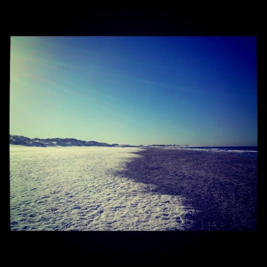 Summer is on its way..Still snow left covering the sand....just.. @ Hellestø Beach, Rogaland, Norway
