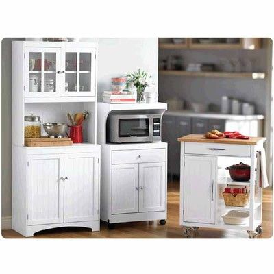 Microwave Carts Or Kitchen Island Cartbakers Rackkitchen