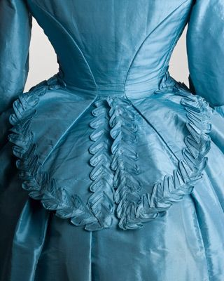 Back details of an 1872 wedding dress.