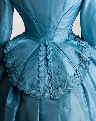 Back details of an 1872 wedding dress.