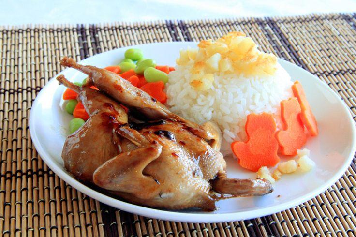 Rice with Teriyaki Quail