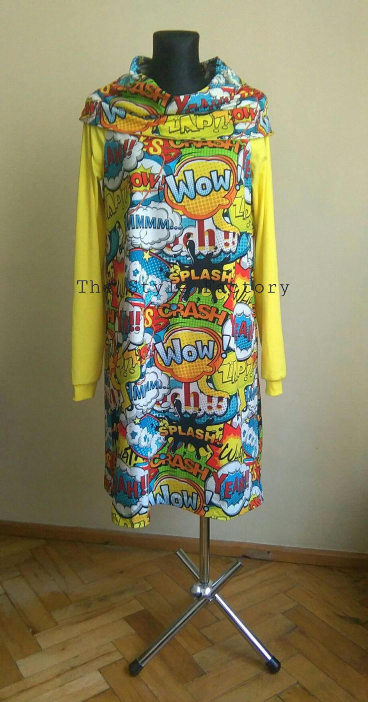 Dress with comic print // thestylefactory.pl //