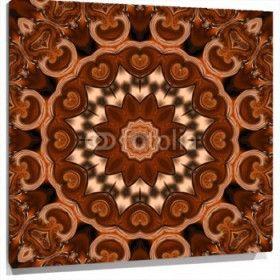 Cuadro Mandala tonos marrones