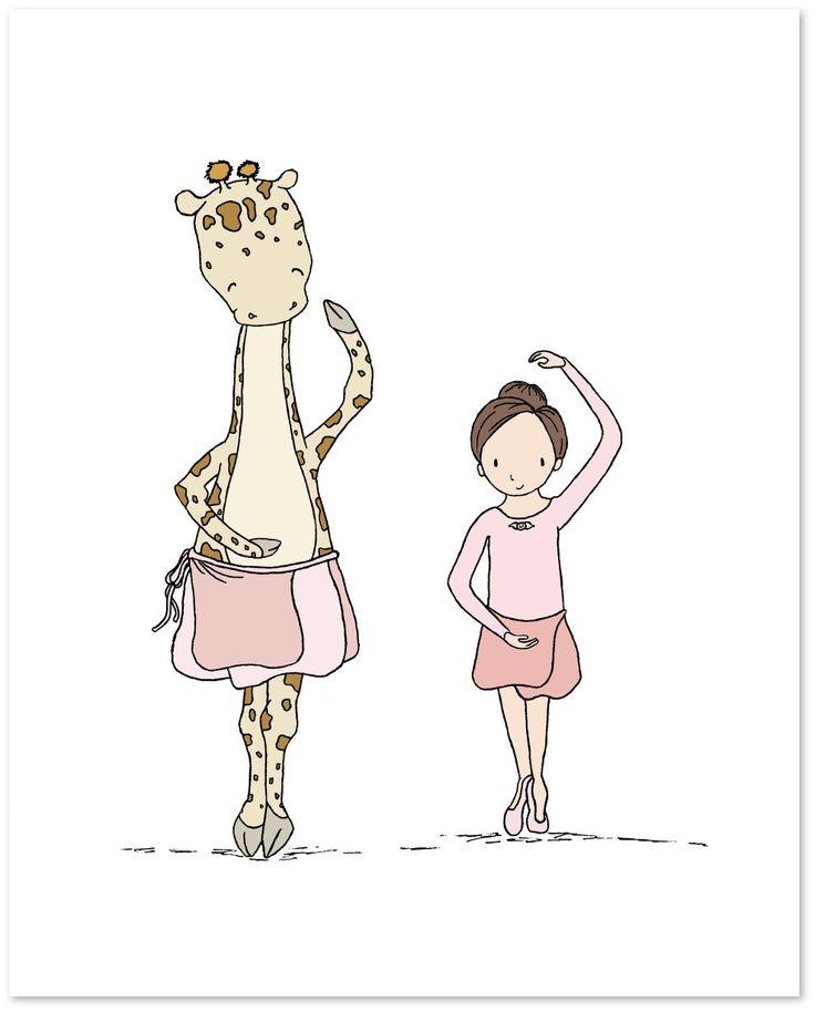 Mädchen Kinderzimmer Kunst--Mädchen und Giraffe Ballett Unterricht--Ballerina Kinderzimmer Kunst--Kinder Kunstdruck, Kids Wandkunst von SweetMelodyDesigns auf Etsy https://www.etsy.com/de/listing/269707749/madchen-kinderzimmer-kunst-madchen-und