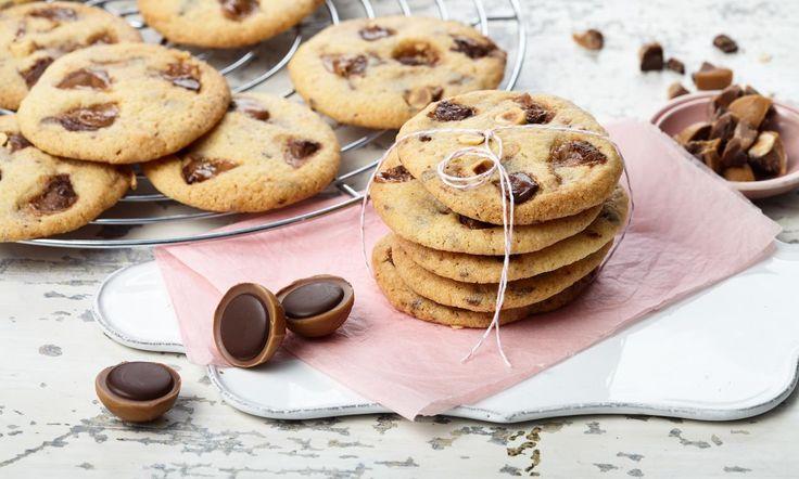 Toffifee®-Cookies Rezept: Knusprige Plätzchen mit Toffifee® - Eins von 5.000 leckeren, gelingsicheren Rezepten von Dr. Oetker!