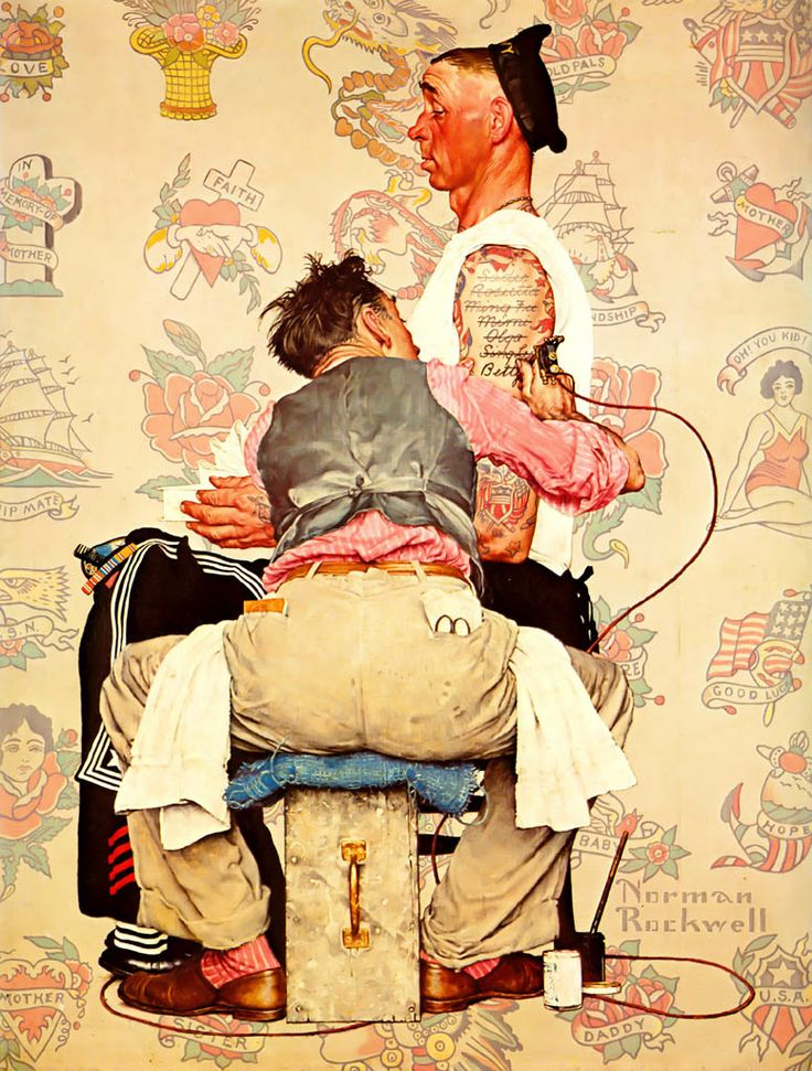 143 best images about norman rockwell on pinterest for Norman rockwell tattoo