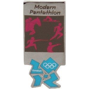 Price: $7.95 - London 2012 Olympics Modern Pentathlon Pictogram Pin - TO ORDER, CLICK THE PHOTO