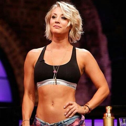 Kaley Cuoco's abs are my inspiration!