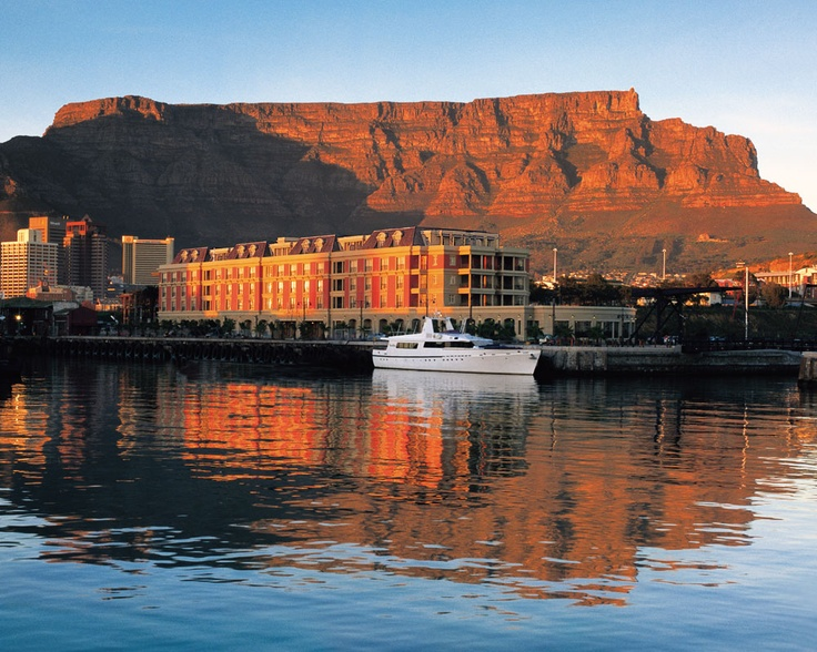 View of Table Mountain and the Cape Grace - http://capetown.hotelguide.co.za/Cape_Town_Waterfront-travel/cape-town-hotel-cape-grace.html