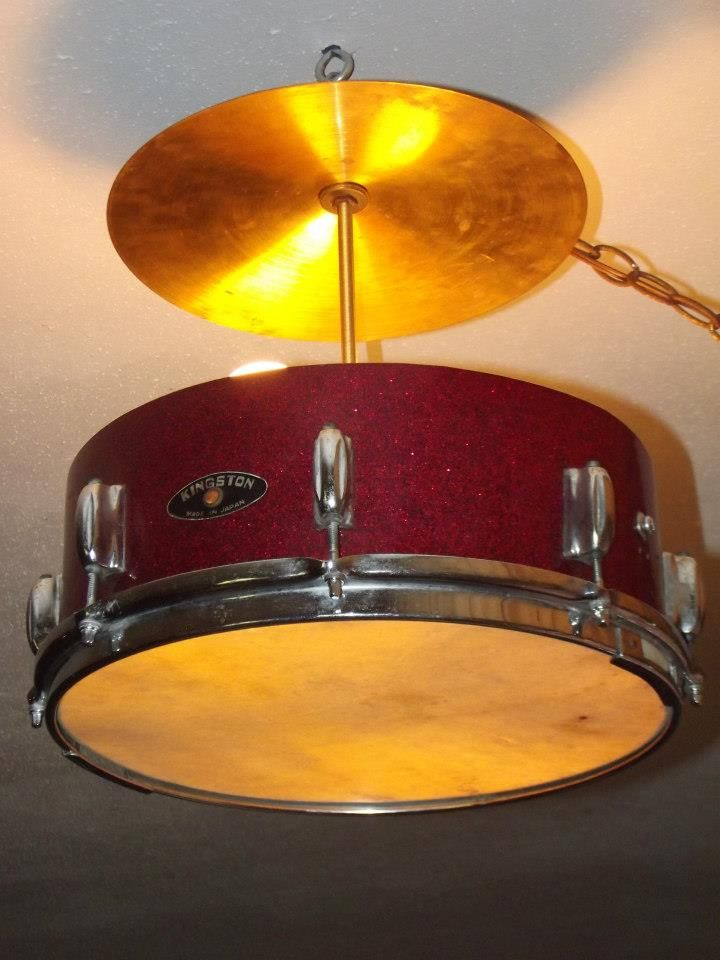 Snare drum & cymbal lighting. Follow us for more wonderful pins at www.pinterest.com/3spurzdandc www.facebook.com/3SpurzDesignsAndCollectables www.3spurzdesignsandcollectables.com