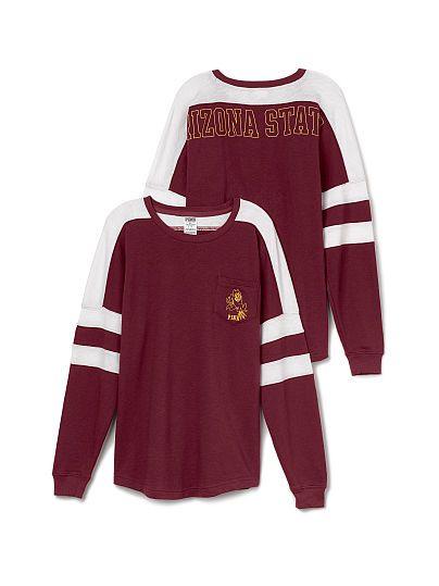 Arizona State University Varsity Pocket Crew PINK $54.95 S Outfit #25