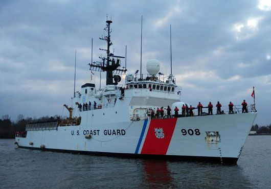 US Coast Guard Cutter Tahoma. One of the ships on the Ledyard Island cordon.