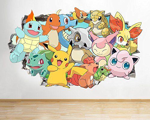 Melhores Ideias De Pokemon Wall Stickers No Pinterest - Custom vinyl wall decals uk   how to remove