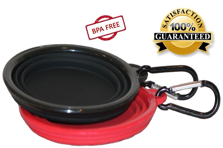 Food Safe/FDA approved - BPA FREE - Two 2 Cup silicone travel pet bowls with 2 BONUS carabiners  -  SLIM & PORTABLE - clips to backpack/leash or belt. We stand behind our top rated silicone bowl quality!  -  COMMITTED to providing FAST SHIPPING & Northern Outback™ 100% SATISFACTION Money Back Guarantee THIS IS THE BEST SILICONE QUALITY BOWL SET YOU CAN GET!! Get yours today!!!! CLICK ON 'Add to Cart' option to purchase yours today!