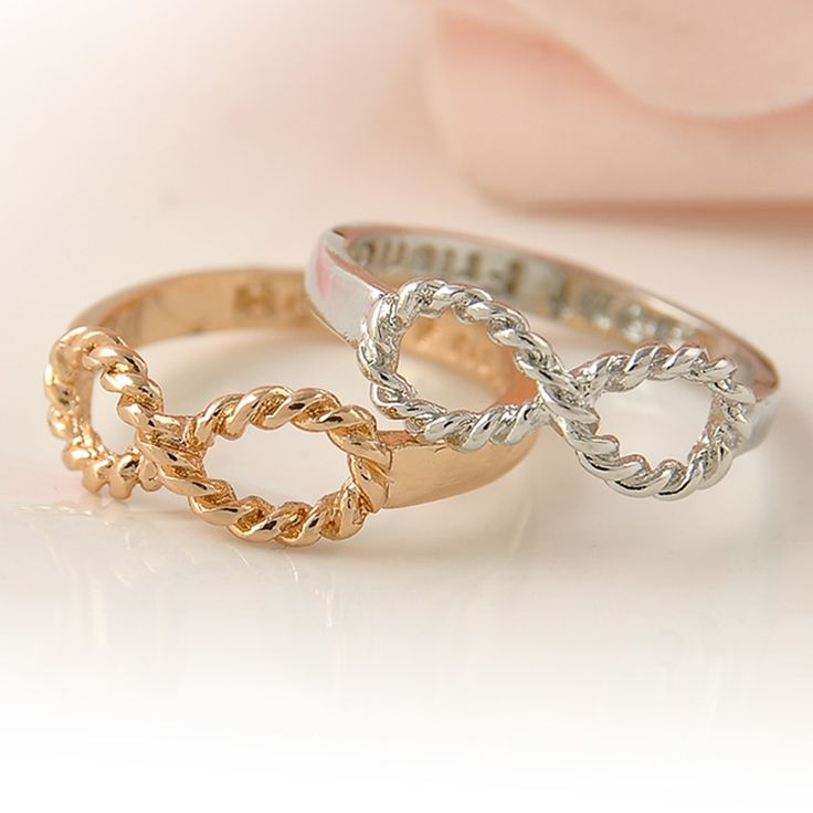 1 PC Gold Silver Vintage Infinity Rings Femme Friendship Best Friend Ring for Women and Men Anel Jewelry Gift