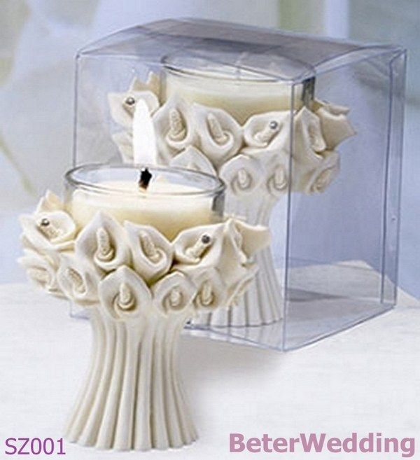 sz001 calla lilly candle holder favors candle candles unique wedding