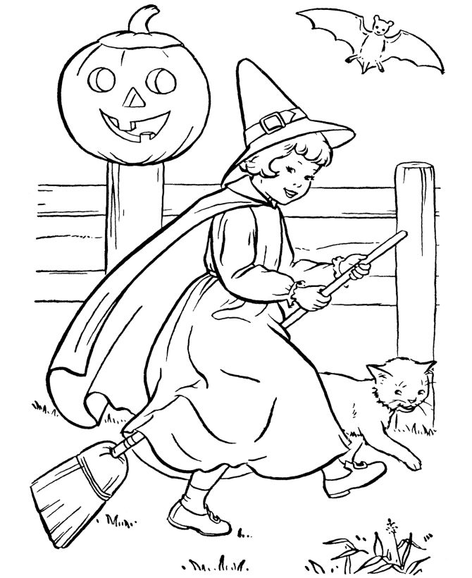 Free Printable Witch Coloring Pages For Kids LineArt