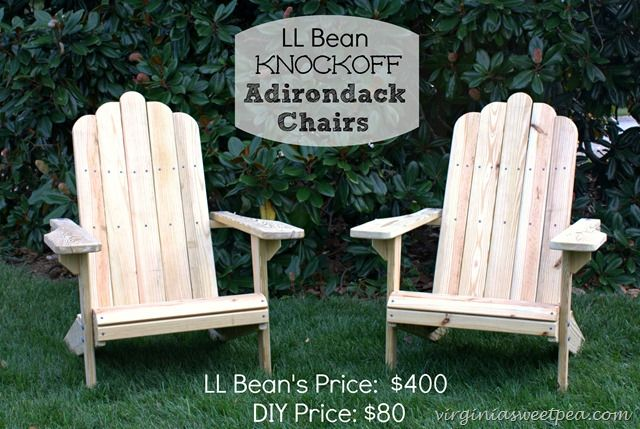 DIY Adirondack Chairs by virginiasweetpea.com