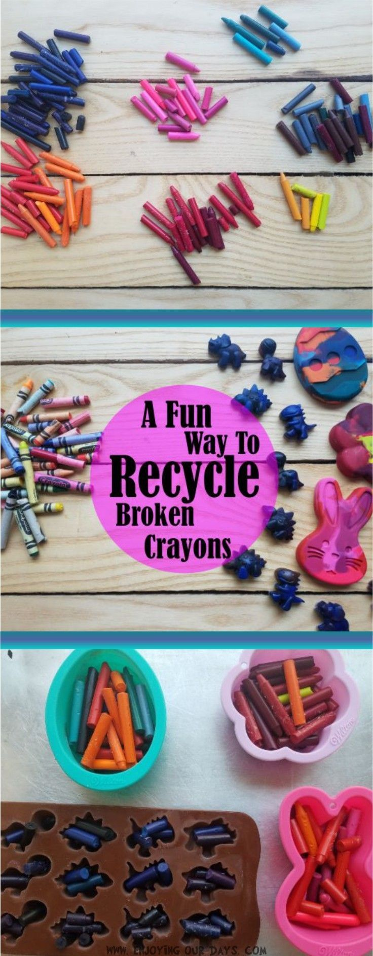 Crafts for one year olds - A Fun Way To Recycle Broken Crayons
