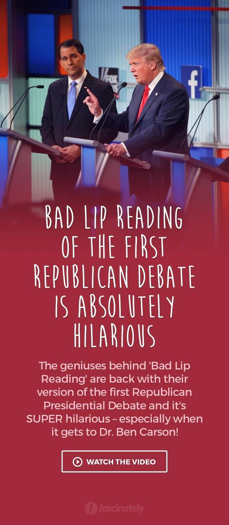 Bad Lip Reading of the First Republican Debate is Absolutely Hilarious