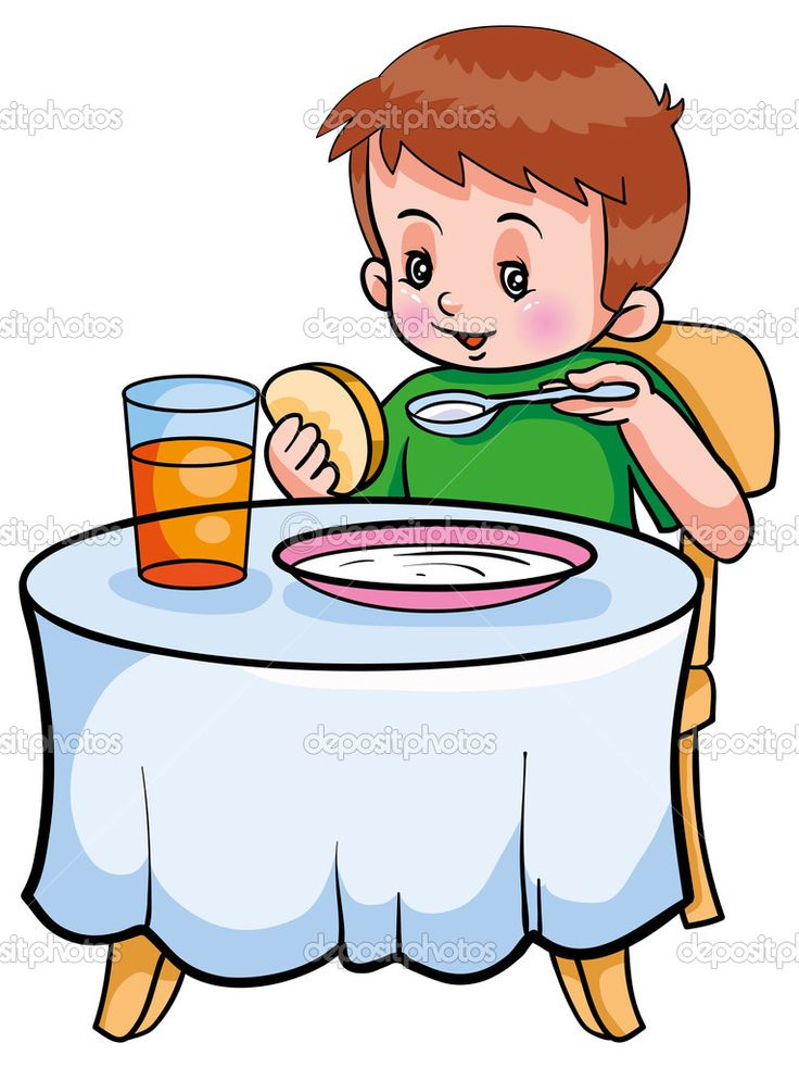 clipart girl eating breakfast - photo #45