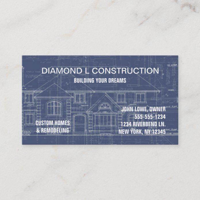 Construction Business Card Zazzle Com In 2021 Construction Business Cards Construction Business Business Card Design