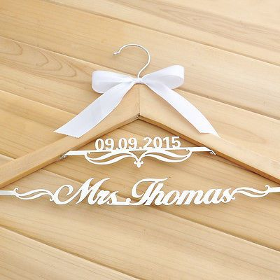 #Personalized wedding #hanger, custom name #hanger, #wooden bride hangers w/date,  View more on the LINK: 	http://www.zeppy.io/product/gb/2/262151991333/